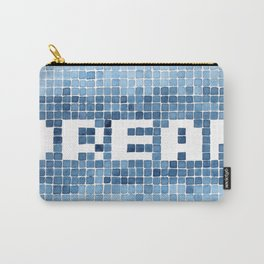 Dream watercolor mosaic typography Carry-All Pouch