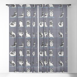 Husky Yoga Sheer Curtain