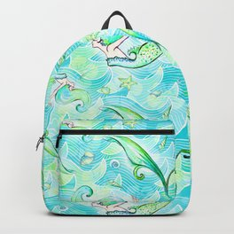 Mermaid Pattern 03 Backpack