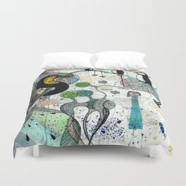 """""""Toucan and penguins"""" Duvet Cover"""