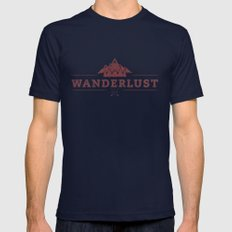WANDERLUST SMALL Navy Mens Fitted Tee