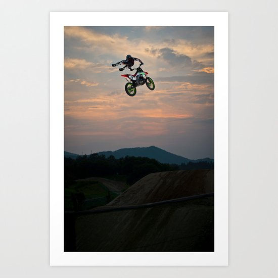 Yuuya Takano Flying at Sunset, FMX Japan Art Print