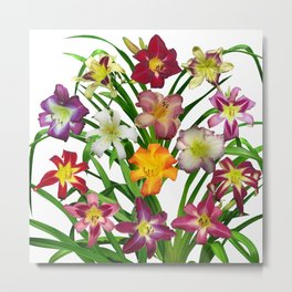 Display of daylilies II Metal Print