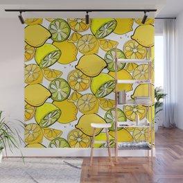 Lemon pattern Wall Mural