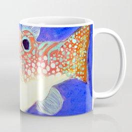 Blue Spotted Orange Toby Puffer Coffee Mug