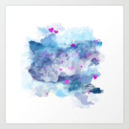 Clouds of love Art Print