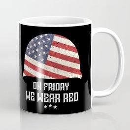 We Wear Red Friday American Military Helmet Coffee Mug