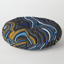 Distorted wavy lines  Floor Pillow