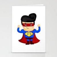 superhero Stationery Cards featuring Superhero by Inkley
