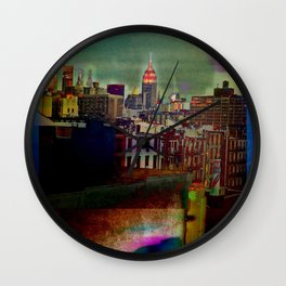 Manipulated City Wall Clock