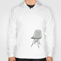 eames Hoodies featuring Eames Wire Chair by Green Bird Press