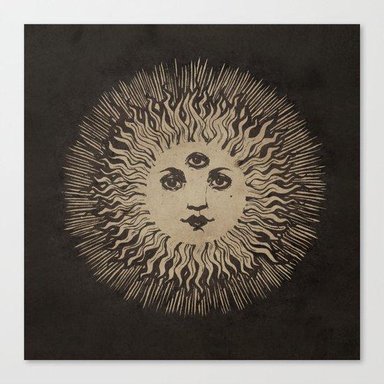 Three Eyed Sun Canvas Print