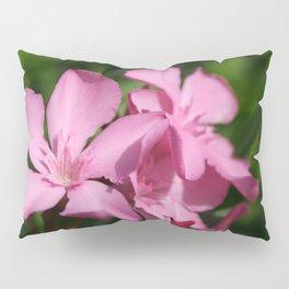Pink Oleander Blossom Pillow Sham
