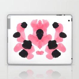 Pink Heart Inkblot Colorful Organic Pattern Laptop & iPad Skin