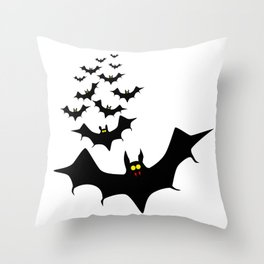 Isolated Bats Throw Pillow