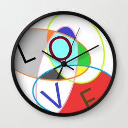 Love in ovals Wall Clock