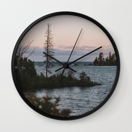The View From Copper Harbor Wall Clock