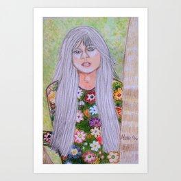 Young Linda Rondstadt Series 2 Art Print