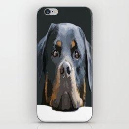 Rottweiler Portrait Vector iPhone Skin