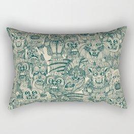 gargoyles teal Rectangular Pillow