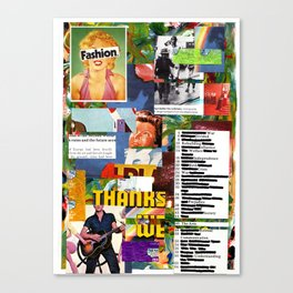 collage two Canvas Print
