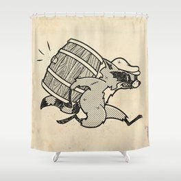 THE  WHISKEY SMUGGLER - vintage cartoon 80's Shower Curtain