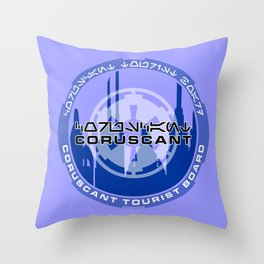 Coruscant Tourist Board Throw Pillow