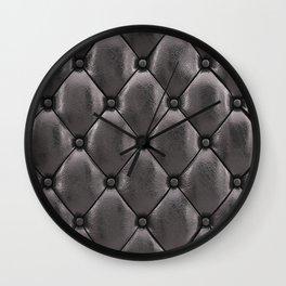 Black upholstery pattern Wall Clock