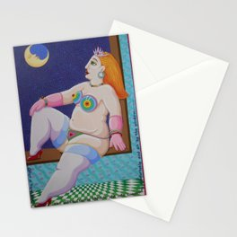 Lavinia at the window Stationery Cards