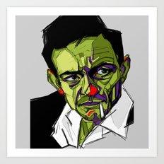 J.Cash Art Print
