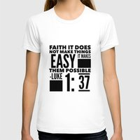 bible verse T-shirts featuring Faith Does Not Make Things Easy- Biblical Verse by PA Melvin