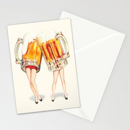 Cheers! Beer Pin-Ups Stationery Cards