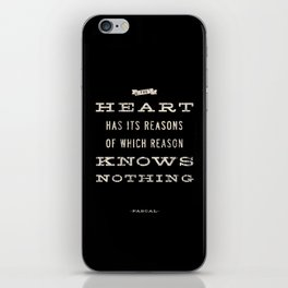 The Heart Quote iPhone Skin