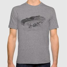 Mad Max Interceptor LARGE Tri-Grey Mens Fitted Tee
