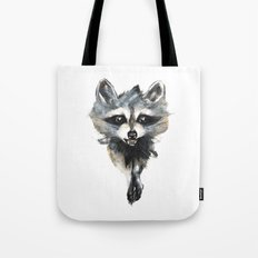 Raccoon stealing seeds! Tote Bag
