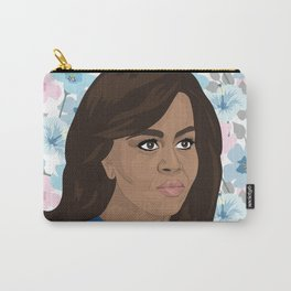 Michelle Obama Floral Carry-All Pouch