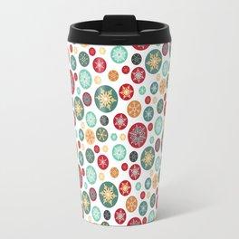 Retro Snowflake Christmas Ornaments Travel Mug
