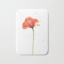 Abstract Red Poppy Flower Bath Mat