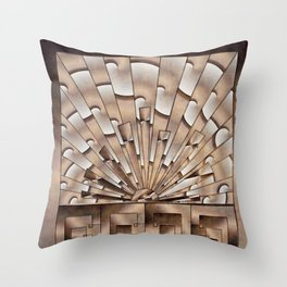 Art Deco Weathered Copper I Throw Pillow