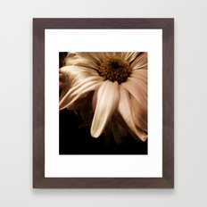 wilting flower Framed Art Print