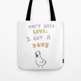 Loveless Dove Tote Bag