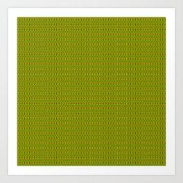 Heliconia Green Gold Stalks Pattern Art Print