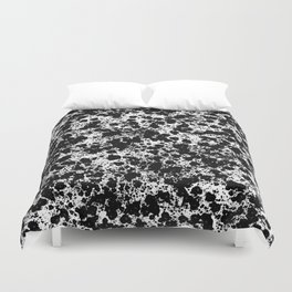 Peppered - Abstract, black and white paint splats Duvet Cover