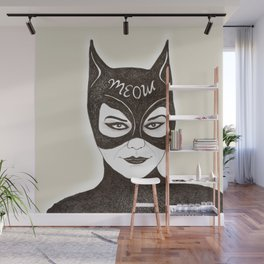 Cat Woman Sketch Meow Wall Mural