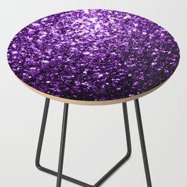 Beautiful Dark Purple glitter sparkles Side Table