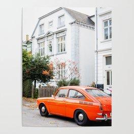 Car and orange Poster