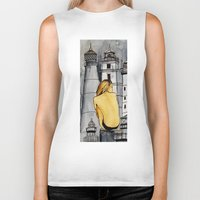 lighthouse Biker Tanks featuring lighthouse by The Traveling Catburys