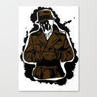 watchmen Canvas Prints featuring  Rorschach (Watchmen) by  Steve Wade ( Swade)