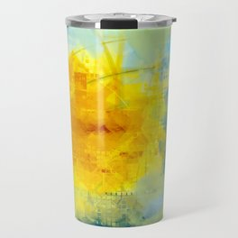 Sun And Flowers Adorn We Travel Mug