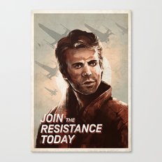 Join the Resistance Today -Poe- Canvas Print